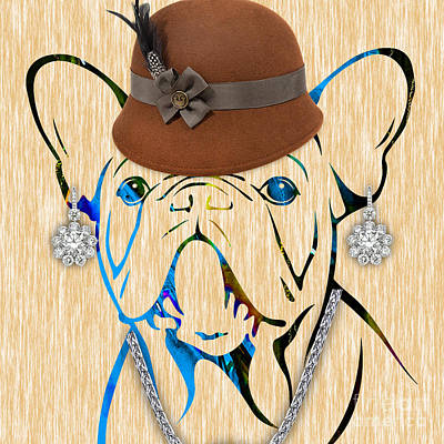 Dog Mixed Media - French Bulldog Collection by Marvin Blaine