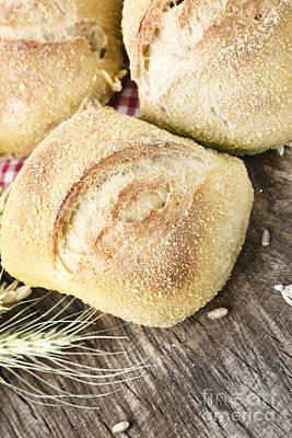 Fresh Bread Print by Mythja  Photography