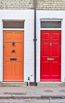 Neighbour Photograph - Front Doors by Tom Gowanlock