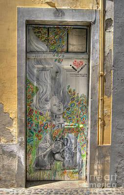 Photograph - Funchal Door Art  11 by David Birchall