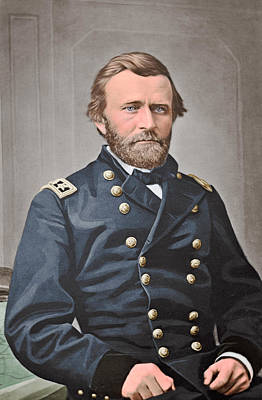 Digital Enhancement Photograph - General Ulysses S. Grant Of The Union by Stocktrek Images
