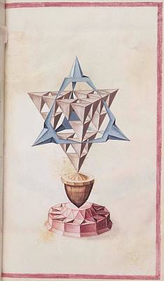 16th Century Painting - Geometric Perspective  16th Century Anonymous Paper Manuscript by Celestial Images