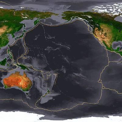 Caroline Wall Art - Photograph - Global Tectonics by Karsten Schneider/science Photo Library