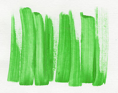Artistic Painting - Green Abstract  by Modern Art Prints