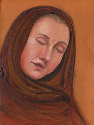 Pastel - Hare Krishna by Prakash Leuva