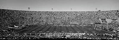 Memorial Stadium Photograph - High Angle View Of A Football Stadium by Panoramic Images