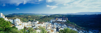 High Angle View Of Buildings In A Town Art Print by Panoramic Images