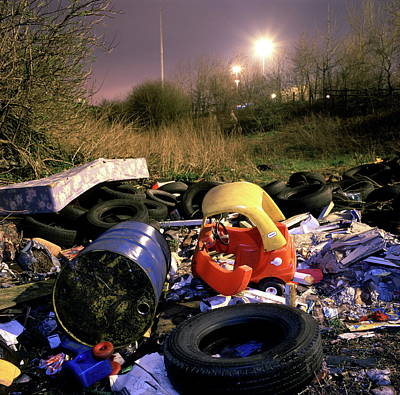 Cheshire Wall Art - Photograph - Illegal Rubbish Dump by Robert Brook/science Photo Library