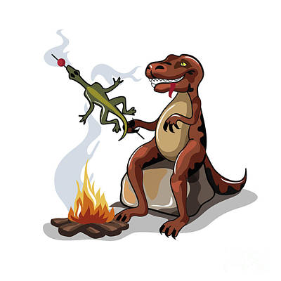 Tyrannosaurus Rex Digital Art - Illustration Of A Tyrannosaurus Rex by Stocktrek Images