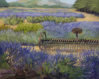 Edge Of The Lavender Field Art Print