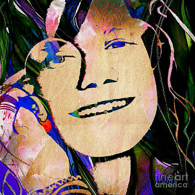 Janis Joplin Collection Art Print by Marvin Blaine