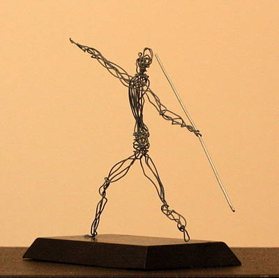 Javelin Thrower  Original by Mel Drucker