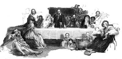 Communion Drawing - John Knox (1505-1572) Scottish by Mary Evans Picture Library