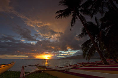 Kihei Canoes Art Print by James Roemmling
