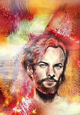 Actor Digital Art - Kyle Schmid  by Francoise Dugourd-Caput