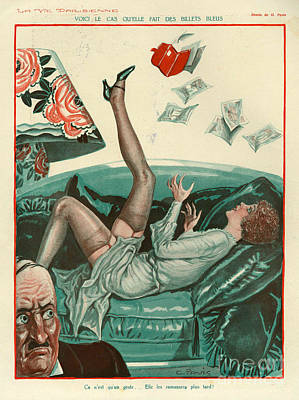 Prostitution Drawing - La Vie Parisienne  1931 1930s France Cc by The Advertising Archives
