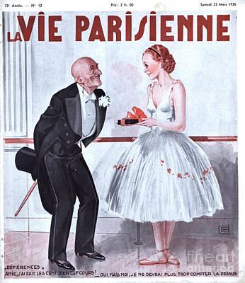 La Vie Parisienne 1935 1930s France Art Print by The Advertising Archives