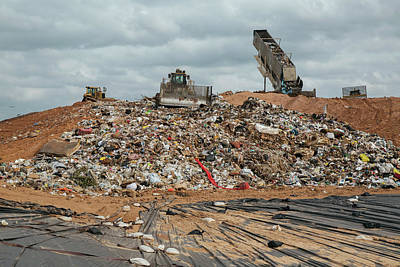 Waste Photograph - Landfill Waste Disposal Site by Peter Menzel