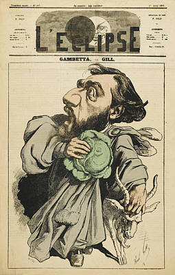 Cabbage Drawing - Leon Michel Gambetta  French Lawyer by Mary Evans Picture Library