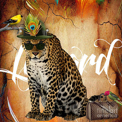 Big Cat Mixed Media - Leopard Collection by Marvin Blaine