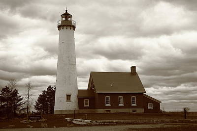 Photograph - Lighthouse - Tawas Point Michigan by Frank Romeo
