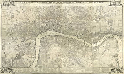 London And Westminster Art Print by British Library