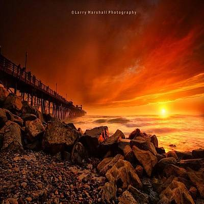 Photograph - Long Exposure Sunset At A North San by Larry Marshall