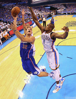 Photograph - Los Angeles Clippers V Oklahoma City by Ronald Martinez