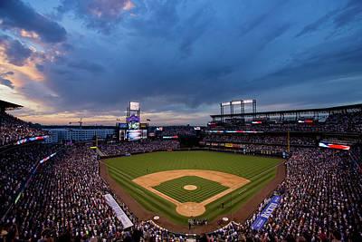 Field Photograph - Los Angeles Dodgers V Colorado Rockies by Justin Edmonds