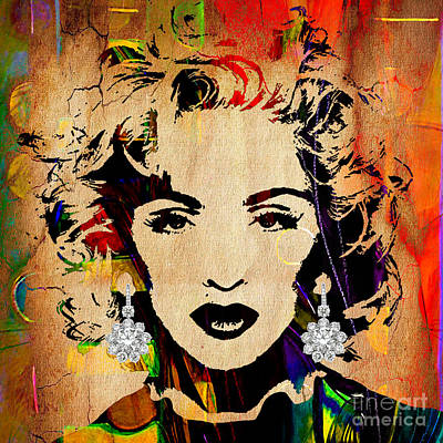 Celebrity Mixed Media - Madonna Collection by Marvin Blaine