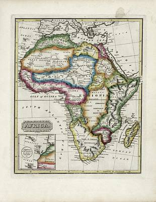 Gabon Photograph - Map Of Africa by Library Of Congress, Geography And Map Division