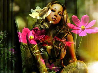 Mariah Carey Art Print by Marvin Blaine
