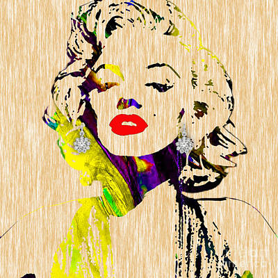 Marilyn Monroe Diamond Earring Collection Print by Marvin Blaine