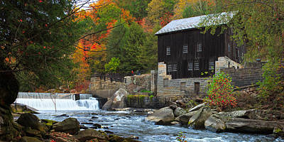 Photograph - Mcconnell's Mill Pano by Emmanuel Panagiotakis