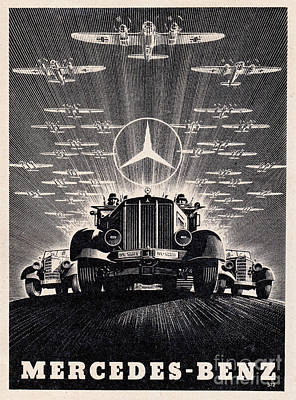 Mercedes - Benz Art Print