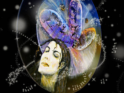 Constellations Painting - Michael Jackson by Augusta Stylianou