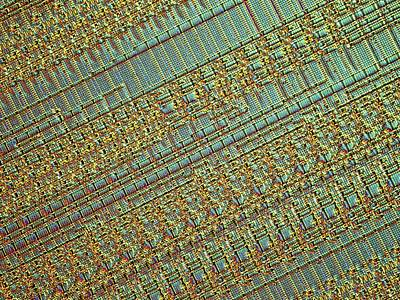 Microchip Photograph - Microchip by Alfred Pasieka