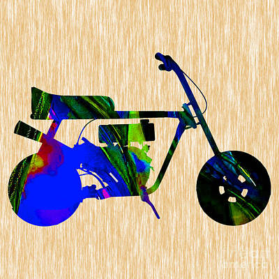 Motorcycle Mixed Media - Mini Bike by Marvin Blaine