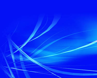 Abstract Royalty-Free and Rights-Managed Images - Modern Blue Abstract by Modern Abstract