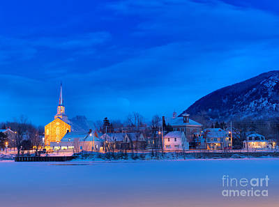 Mont Saint Hilaire Quebec Winter Art Print