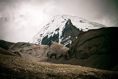Jainism Wall Art - Photograph - Mount Kailash Western Slope Home Of The Lord Shiva by Raimond Klavins