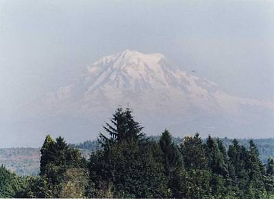 Mount Rainier  Art Print by Myrna Walsh