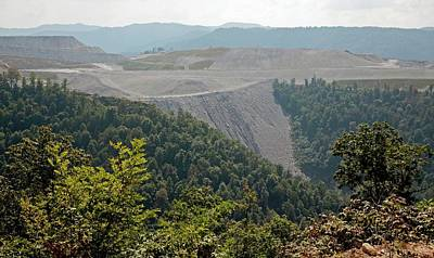 Mountaintop Removal Coal Mining Art Print by Jim West