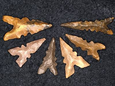 Arrow Head Photograph - Neolithic Flint Arrowheads by Science Photo Library