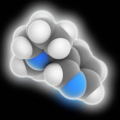 Nicotine Molecule Art Print