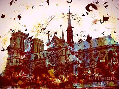 Hunchback Of Notre Dame Digital Art - Notre Dame De Paris by Marina McLain