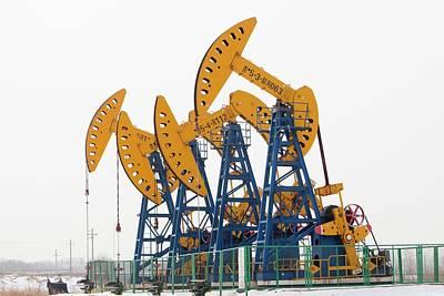 Oil Field In Daqing Art Print