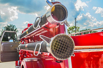 Photograph - Ole Time Fire Truck Series by Kelly Kitchens