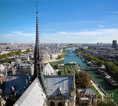 Marvelous Marble Rights Managed Images - Paris panorama France Royalty-Free Image by Michal Bednarek