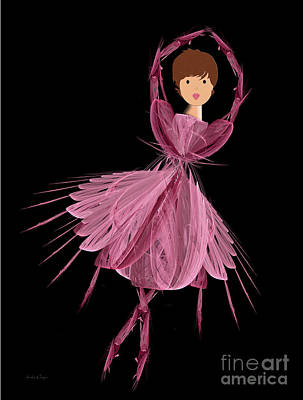 6 Pink Ballerina Art Print by Andee Design